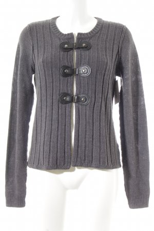 Tahari Strickjacke anthrazit-schwarz Casual-Look