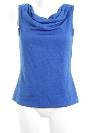 Tahari Cowl-Neck Top blue casual look