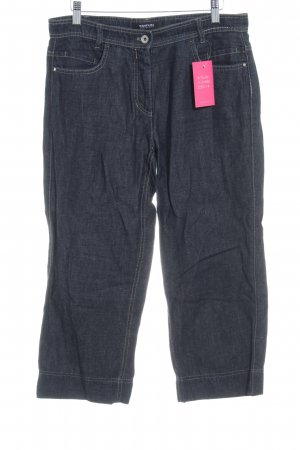 Taifun Pantalone a 3/4 blu scuro stile casual