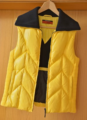 TAIFUN 36 warme leichte Weste Daunenweste Steppweste kräftiges Gelb neuwertig