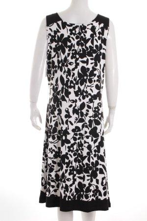 Taifun A-Linien Kleid weiß-schwarz Blumenmuster Casual-Look
