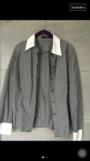 Taifun Bluse gestreift schwarz weiß --------------
