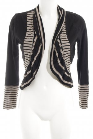 Taifun Bolero black-beige striped pattern casual look