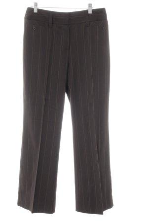 Taifun Pantalon à pinces brun foncé rayure fine style d'affaires