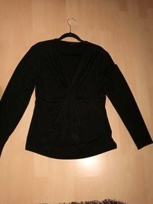 Taifun Camisa con cuello V negro Poliéster