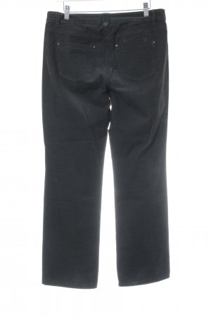 Taifun Pantalone di velluto a coste nero stile casual