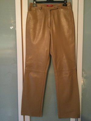 Taifun Pantalone in pelle marrone chiaro
