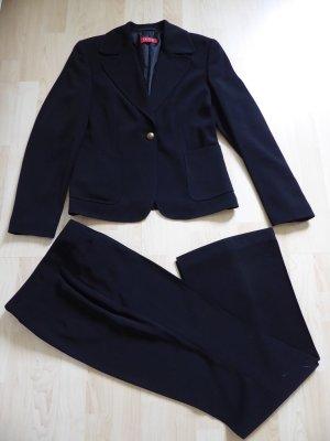 Taifun, eleganter schwarzer Hosenzug für Business und Abend, Größe 38