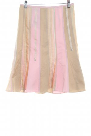 Taifun Godet Skirt beige-light pink striped pattern extravagant style