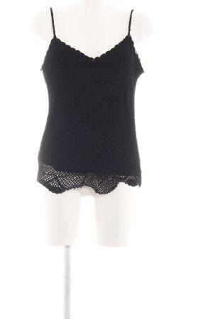 Taifun Crochet Top black casual look