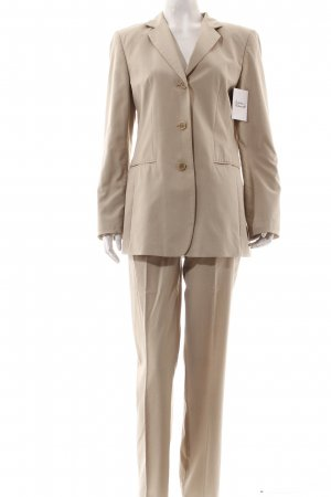 Taifun Hosenanzug beige Karomuster Business-Look