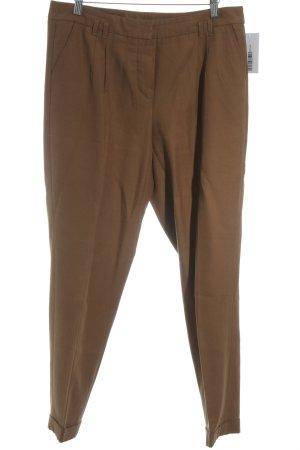 Taifun Pantalone a vita bassa marrone stile semplice