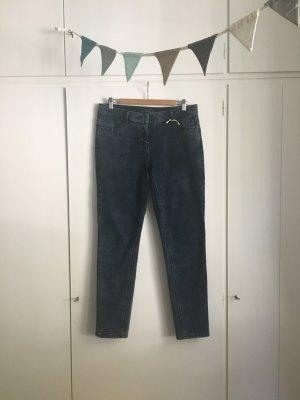 Taifun | Jeans Hose | Skinny Fit | Hanna | Gr. 42 | Dunkelblau Washed