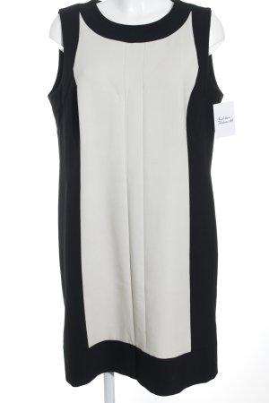 Taifun Jerseykleid schwarz-creme Elegant