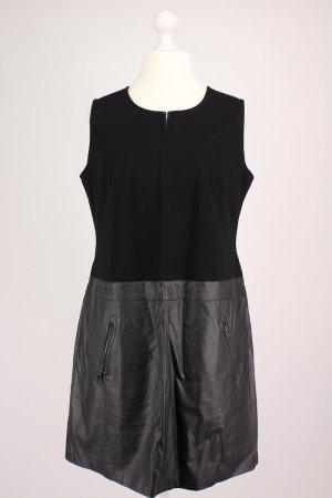 Taifun Kleid mit Kunstleder Einsatz schwarz Größe 42