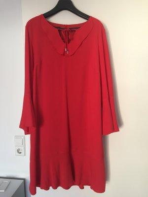 Taifun Vestido estilo flounce rojo Viscosa