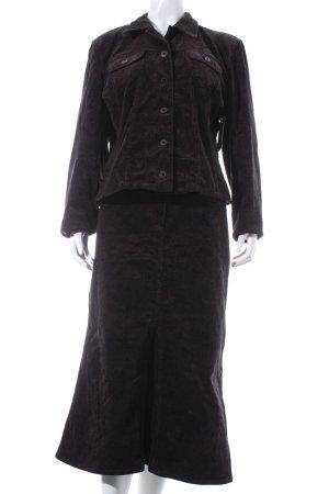Taifun Kostüm dunkelbraun-schwarzbraun Paisleymuster Casual-Look
