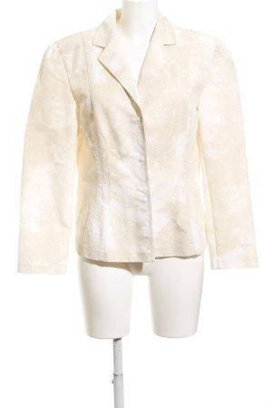 Taifun Blazer corto crema-bianco Motivo schizzi di pittura stile casual