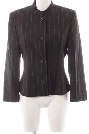 Taifun Short Blazer gold-colored-black striped pattern classic style