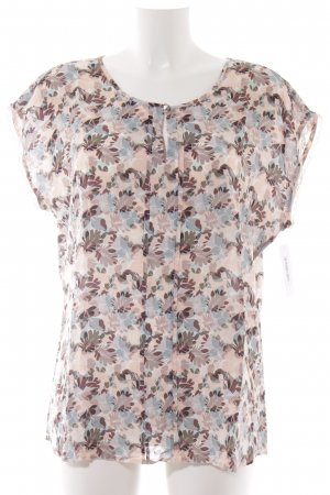 Taifun Kurzarm-Bluse florales Muster Casual-Look