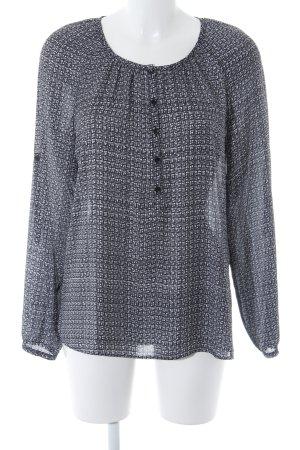Taifun Langarm-Bluse schwarz-weiß abstraktes Muster Casual-Look