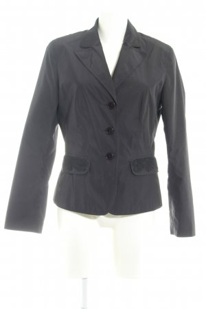 Taifun Leather Blazer black minimalist style