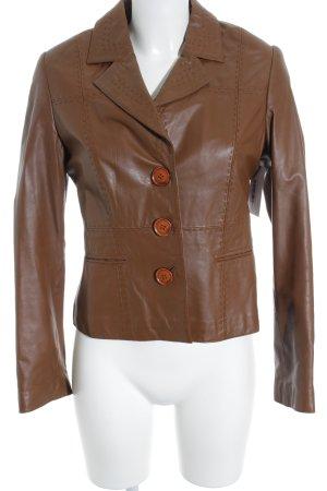 Taifun Leather Jacket brown casual look