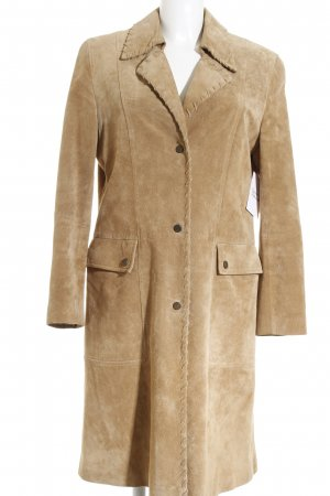 Taifun Cappotto in pelle color cammello elegante