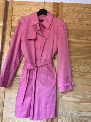 Taifun Mantel Pink mit Bindegürtel