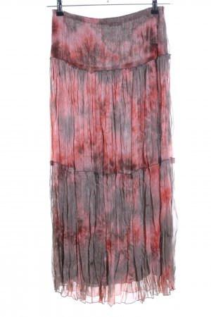 Taifun Maxi Skirt red-light grey abstract pattern casual look