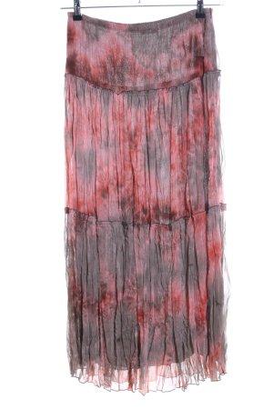 Taifun Falda larga rojo-gris claro estampado con diseño abstracto look casual