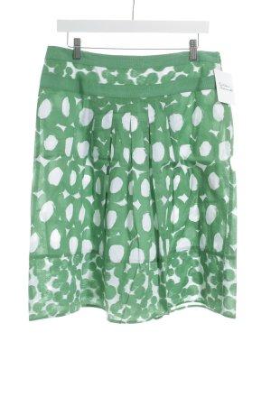 Taifun Jupe mi-longue blanc-vert motif abstrait style décontracté