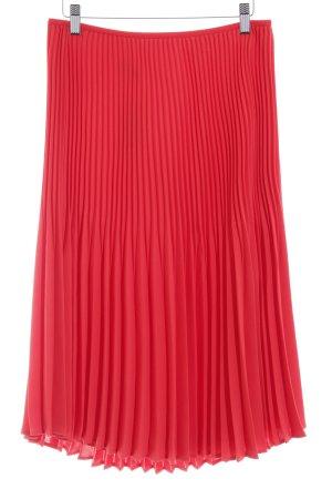 Taifun Pleated Skirt bright red beach look