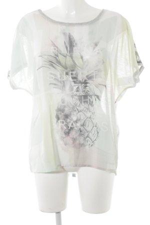 Taifun Print-Shirt meliert Casual-Look