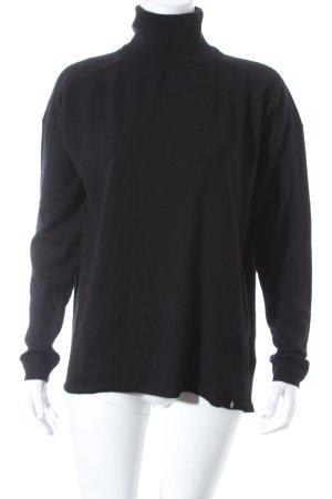 Taifun Rollkragenpullover schwarz minimalistischer Stil