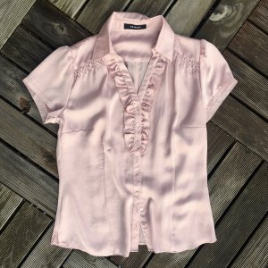 Taifun Ruche blouse stoffig roze-rosé Polyester