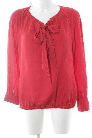 Taifun Schluppen-Bluse rot Elegant