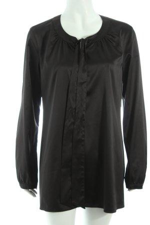 Taifun Schluppen-Bluse schwarz klassischer Stil