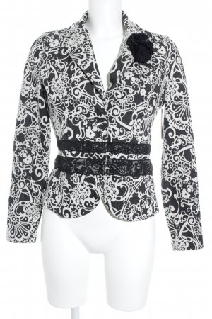 Taifun Separates Sweat Blazer black-natural white mixed pattern casual look