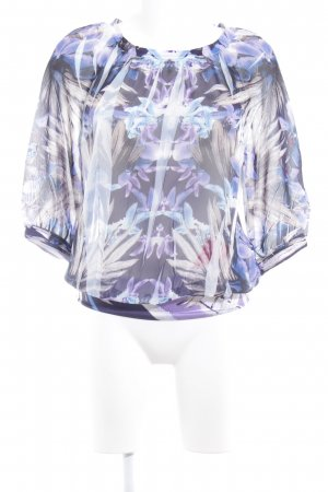 Taifun Separates Transparenz-Bluse florales Muster Business-Look