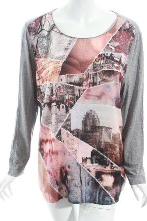 Taifun Shirt abstraktes Muster Casual-Look