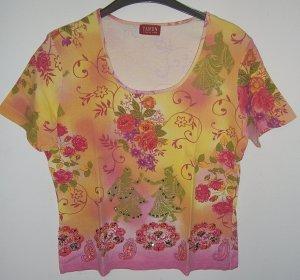 TAIFUN Shirt mit Perlen/Pailletten--Gr. 42
