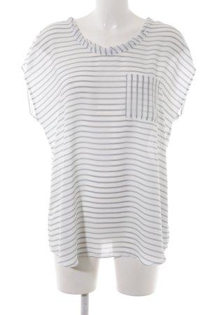 Taifun Shirt Tunic white-pale blue striped pattern casual look