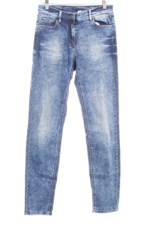 Taifun Skinny Jeans blau Washed-Optik