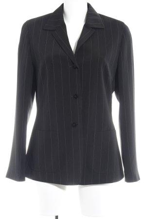 Taifun Veste de smoking noir-blanc rayure fine style d'affaires