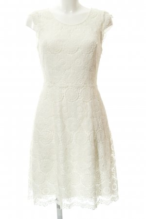 Taifun Lace Dress natural white-white flower pattern business style