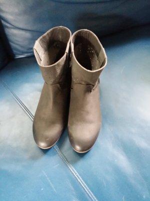 Taifun Slip-on Booties grey leather