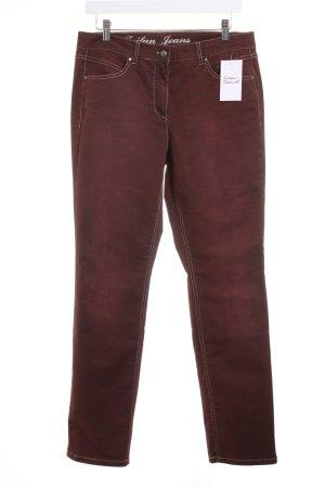 Taifun Straight-Leg Jeans dunkelrot Casual-Look