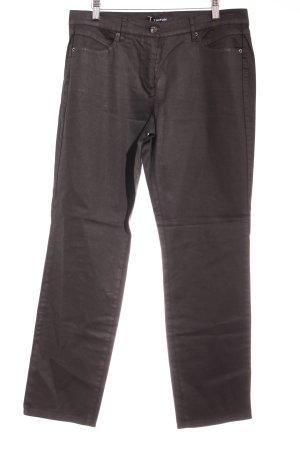 Taifun Straight-Leg Jeans schwarz Glanz-Optik