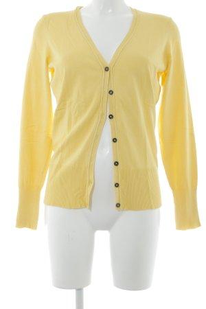 Taifun Cardigan tricotés jaune style décontracté